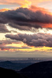 Los Angeles après la pluie photos stock