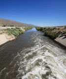 Los Angeles Aqueduct start. The start of the Los Angeles Aqueduct where the water comes from the Owens River Royalty Free Stock Image