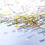 Los Angeles Area Map Stock Photo
