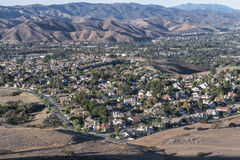 Los Angeles Area Suburbs Royalty Free Stock Photography