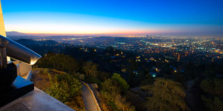 Los Angeles as seen from the Griffith Observatory Royalty Free Stock Photos