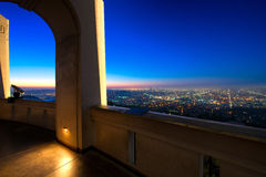 Los Angeles as seen from the Griffith Observatory Stock Photography