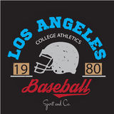 Los angeles athletic champions college varcity baseball football logo, emblem, sign. Royalty Free Stock Photos
