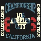 Los Angeles Athletics typography stamp, California t-shirt Stock Photo