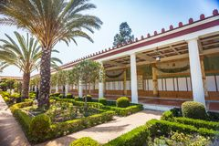 Fragment of Getty Villa in Malibu Stock Photos