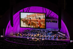 LOS ANGELES - 29. AUGUST: Das Hollywood-Schüsselamphitheater Stockfotos