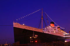 LOS ANGELES - August 20: Queen Mary and Russian Scorpion homeported Stock Photo