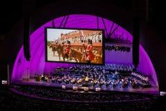 LOS ANGELES - AUGUSTI 29: Den Hollywood bunkeamfiteatern arkivfoton