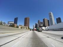 Los Angeles-Autobahn-Türme Stockfotografie