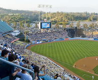 Los Angeles Baseball stadium. California field with fans in the stands Stock Image