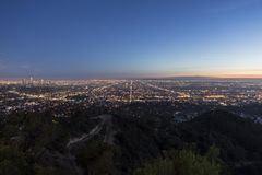 Los Angeles Basin Dusk Royalty Free Stock Photography