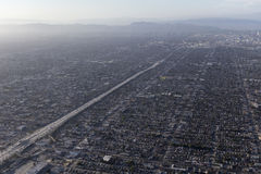 Los Angeles Basin Smog Areial Royalty Free Stock Photography