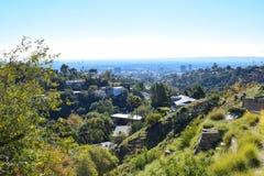 Los Angeles beskådade från Hollywood Hills arkivbild