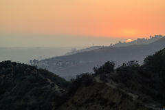 Los Angeles big Sunset scene from Griffith Park Royalty Free Stock Image