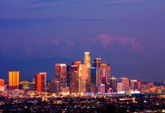 Los Angeles bij nacht Stock Afbeelding