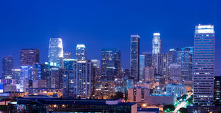 Los Angeles bij nacht Royalty-vrije Stock Fotografie