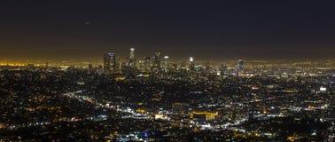 Los Angeles bij nacht. Stock Fotografie