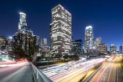 Los Angeles bij nacht Stock Afbeeldingen