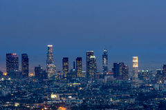 Los Angeles bij nacht Stock Foto