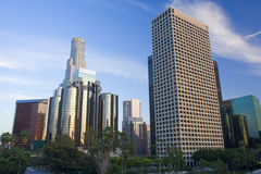 Los Angeles bij zonsondergang Royalty-vrije Stock Foto