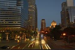 Los Angeles bis zum Nacht Stockfotografie