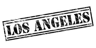 Los Angeles black stamp Stock Images