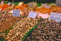 Los Angeles Bouqueria Foodmarket w Barcelona Zdjęcia Royalty Free