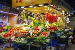 Los Angeles Bouqueria Foodmarket w Barcelona Obrazy Stock