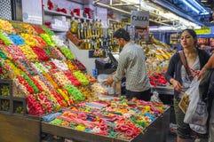 Los Angeles Bouqueria Foodmarket w Barcelona Zdjęcie Royalty Free