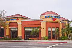 A Los Angeles Branch Office of Bank Of America Stock Photo