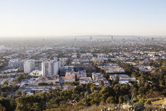 Los Angeles brumeuse Smoggy Photos stock
