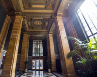 Los Angeles Building Lobby. Lobby of Office Building Bunker Hill Los Angeles Royalty Free Stock Image