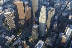 Los Angeles Bunker Hill Towers Aerial Royalty Free Stock Image