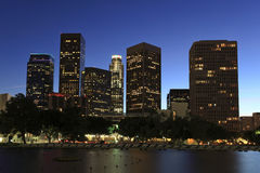 Los Angeles business district Stock Photography
