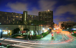 Los Angeles busy intersection. Los Angeles city busy intersection at night Stock Image