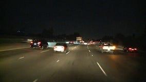 Los Angeles - câmera montada carro - Timelapse - grampo 7 filme