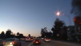 Los Angeles - câmera montada carro - Timelapse - grampo 19 filme