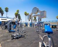 Plage Venise CA de muscle Photos stock