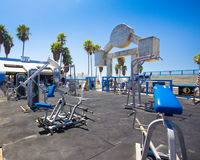 Muskelstrand Venedig CA Arkivfoton