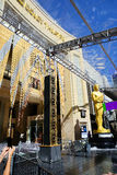 Los Angeles, CA. The Dolby Theater. Dolby Theater is one of the most famous landmarks, located on Hollywood Boulevard, since 2001, which became the permanent stock image