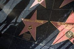 Los Angeles CA Gå av berömmelse på den Hollywood boulevarden arkivbilder