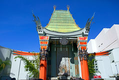 Los Angeles, CA. Grauman's Chinese theater. Grauman's Chinese theater — cinema 1162 seats located on Hollywood Boulevard in Los Angeles. The building was royalty free stock photography