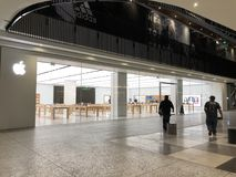 Apple, Inc. store in Century City. Los Angeles, CA: March 27, 2018: An Apple, Inc. store at the Century City Westfield mall in Los Angeles. Apple is a royalty free stock photography