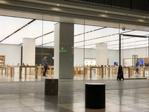 Apple, Inc. store in Century City. Los Angeles, CA: March 27, 2018: An Apple, Inc. store at the Century City Westfield mall in Los Angeles. Apple is a royalty free stock photo