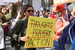 March for Our Lives Los Angeles Event Royalty Free Stock Image