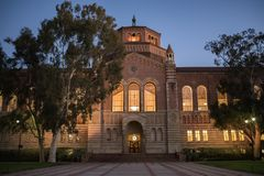 Powell Library on the University of California, Los Angeles UCLA stock image
