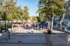 UCLA Residence Halls. Los Angeles, CA: October 20, 2017: Exterior of the UCLA resident halls. For 2017-2018, the cost of room and board in the UCLA resident Stock Photography