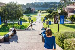 UCLA Janss Steps. Los Angeles, CA: October 20, 2017: Janss Steps on the UCLA campus. UCLA is a public university in the Los Angeles area Stock Image