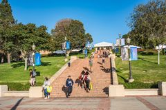 UCLA Janss Steps. Los Angeles, CA: October 20, 2017: Janss Steps on the UCLA campus. UCLA is a public university in the Los Angeles area Stock Photo
