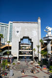 Los Angeles, CA. Patio at the Dolby theater. Patio at the Dolby theater — outdoor patio, surrounded by cafes, restaurants, shops, where to relax, eat and stock photography